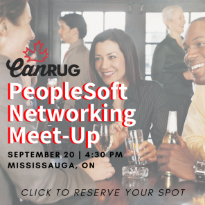 PeopleSoft Networking Meet-Up (Sept 20)